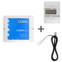 CEMM Basic incl. 3 fase kWh meter + S0 kabel