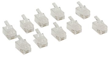 RJ10 Telefoonstekker Male PVC Transparant 10x