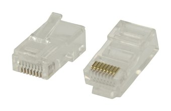 RJ45 UTP Connectoren CAT6 Male PVC Transparant 10x